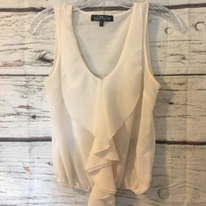 Almost Famous Sleeveless Sheer Top, S